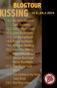 Blogtour Kissing -Plakat