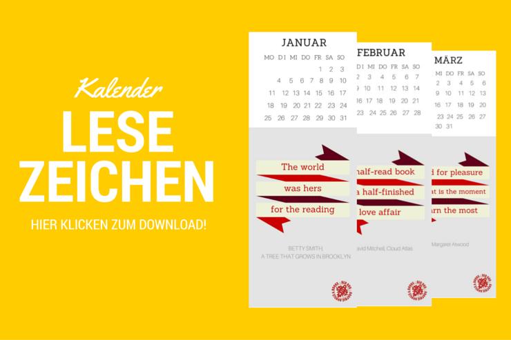 Kalender Lesezeichen - Hier klicken zum Download
