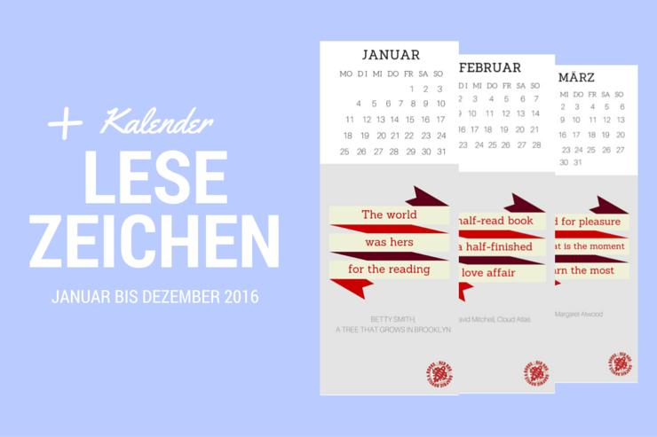 5 Belohnungen für Buchfreunde und Wortliebhaber + Kalender Lesezeichen