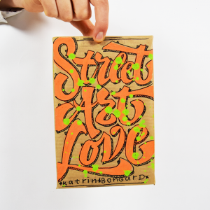 Red Bug Lettering Street Art Love Lukas Horn