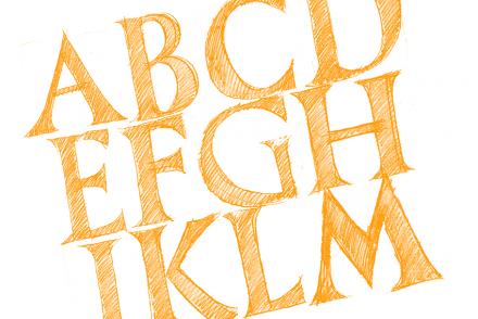 Anzeigebild für den Blogbeitrag Red Bug Lettering #3 von Lukas Horn konstruierte Buchstaben